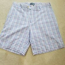 NEW PETER MILLAR PLAID MID RISE STRETCH BERMUDA SHORTS MENS Size 34 EXCELLENT