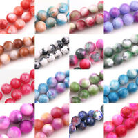 Lots Colorful Gem Round Loose Spacer Beads Stone DIY Jewellery Making Crafts