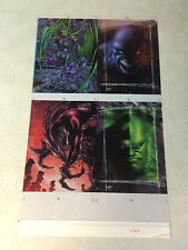 PITT -- 4 COLOR ACETATE ART, KEOWN, FULL BLEED, AWESOME, HUGE, 4 STUNNING IMAGES