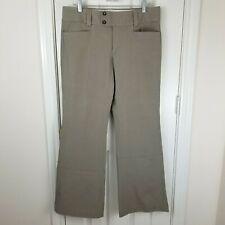 Banana Republic Sloan Fit Flare Pants Women's Sz 12 Stretch Gray Tan Flat Front