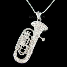 Big Tuba Euphonium made with Swarovski Crystal Eupho Euph Baritone Horn Necklace