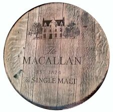 Reclaimed Whisky Barrel Lid Solid Oak Wallhanging The Macallan pub bar mancave