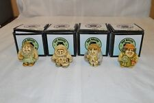 Four Vintage Pot Bellys Box Figurines Including Law Suitor and Flower Potter