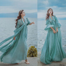 Womens Fairy Medieval Maxi Long Dress High Waist Prom Gown Victorian Retro