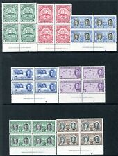 TURKS & CAICOS ISLANDS-1948 Centenary Set in Unmounted Blocks of 4 with Imprint
