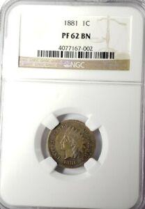 1881 Indian Head Cent NGC PR-62BN