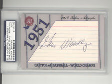 Gene Woodling auto /45 2018 Historic Autographs Capitol 1951 New York Yankees
