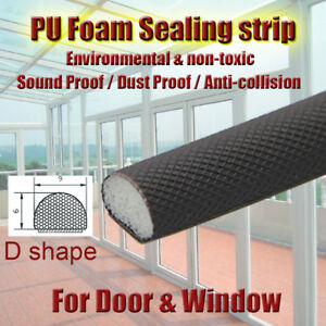 D Type PE PU Foam Sealing Weather Strip External DOOR Window FRAME DRAUGHT SEAL