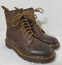 Dr.Martens Brown Leather 8 Eyelet Ankle Boots sz 5 US MADE IN ENGLAND!