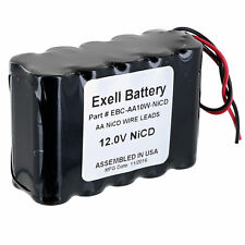 Exell 12V 1000mAh (10xAA) NiCd Battery Pack w/ Wire Leads