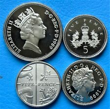 More details for 1971 -2020  elizabeth ii 5p pence decimal proof coin - choose your year