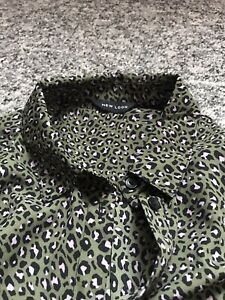 Leopard print blouse size 14. New Look. Green/pink