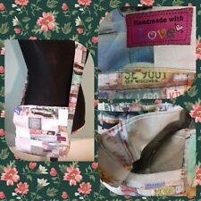 handmade american retro car print messenger bag