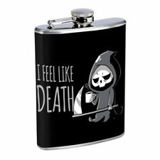 Death Reaper Em1 Flask 8oz Stainless Steel Hip Drinking Whiskey