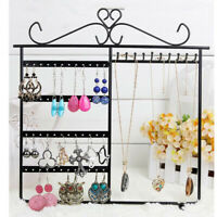 Earrings Ear Studs Necklace Jewelry Display Rack Metal Stand Organizer Holder