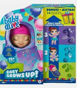 Baby Alive Baby Grows Up Bonus Pack 14 BONUS Party Surprises In Hand. Pink Hat