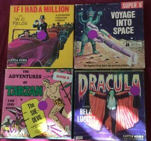 LOT OF FOUR SUPER 8 MM FILMS/ DRACULA AND MORE