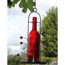 Bird Feeder Seed Red Wine Bottle 3 Cup Capacity Yard Patio Garden Décor New!