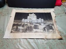 Rare 1886 Lithograph Ice Castle City St Saint Paul MN Harrison Handy Real Estate