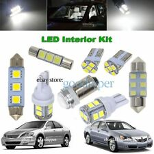14x White LED Map Dome lights interior package kit fit 2005-2012 Acura RL