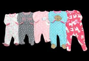 Baby Girl 3 Months 3-6 Months Carter's Fleece Winter Sleeper Pajama Clothes Lot