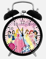 "Disney Princess Alarm Desk Clock 3.75"" Home or Office Decor Y91 Nice For Gift"