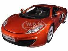 MCLAREN MP4-12C METALLIC ORANGE 1/24 DIECAST CAR MODEL BY BBURAGO 21074
