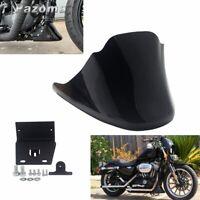 Front Bottom Spoiler Air Dam Chin Fairing Cover For Harley Sportster 883 XL1200