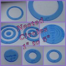 5 Circle Templates 3mm Acrylic Fussy Cutting Patchwork