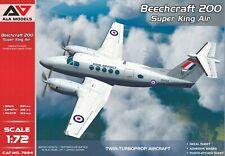"BEECHCRAFT 200 ""Super King Air""  (France, Suède & GB) A&A 1/72 Plastic Kit"