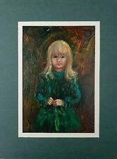 "Vintage J. ELLEN WILHELM ""Chrissy"" Oil Painting"