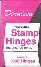 1 UNOPENED PACK OF DENNISEN STAMP HINGES 1000 FOLDED