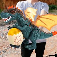 Walking Dinosaur Toy Kids Toy Figure w/ Lights & Music Real Movement Loud