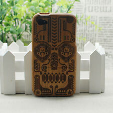 Decorative Ethnic Mask In Look Nature Hard Wood Cover Case for Apple iPhone 4 4S