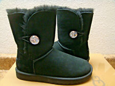 UGG BAILEY BUTTON BLING BLACK SWAROVSKI CRYSTAL BOOT US 11 / EU 42 / UK 9