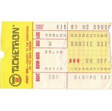 BONNIE RAITT Concert Ticket Stub WASH DC 4/19/75 McDONOUGH GYMNASIUM Rare