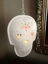 Skull Tealight Holder Mexican Day of the Dead Sugar Skull Halloween Sass & Belle