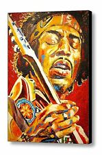 """jimi Hendrix"" Hand Embellished Canvas Art Print by Patrick J Killian"