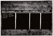 ORIG. FOTO 11x8 PIATTI DEF. TURBINE OIL PERDITE FAMEX TO Prova. (G1262)