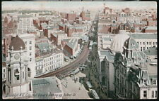 BROOKLYN NYC NY City Hall Square Looking Up Fulton Street Vintage Postcard Old