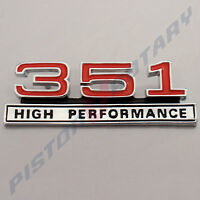 351 HIGH PERFORMANCE , Console Badge Chrome BRAND NEW for Ford Falcon GT XY dash