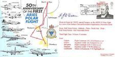 CC6 RAF PRIMO VOLO POLARE Aries LANCASTER POLO NORD Copertura firmato LAC Dean AFM