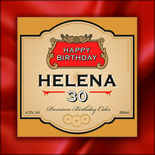 Personalised Cider Bottle Labels (Cidre) - Novelty Birthday Gift - Any Age!