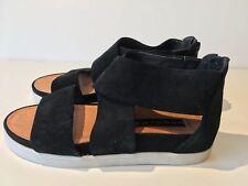 Steven Steve Madden Women's Flrence Sandals (1157) Black Suede Size 8.5M