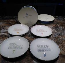 SET/4 POTTERY BARN Assor. COCKTAILS DEFINED Bar Appetizer Canape Serving Plates