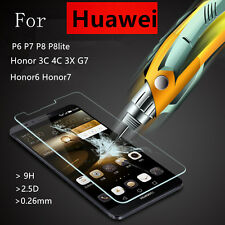 1X 9H Premium Tempered Glass Screen Protector Cover Film For Huawei Phone