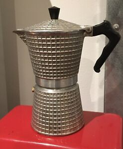 Vintage Brevettata Dori Express Waffle Pattern Espresso Maker MCM Italy