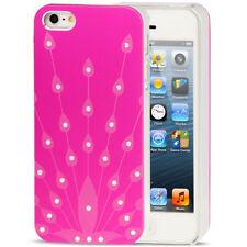 Bling Case Pfau Design pink für Apple iPhone 5 Backcover Handytasche Hülle