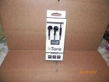 1 SET BRAND NEW IFROGZ INTONE EARPHONES WITH AVEC MIC  (BLACK)