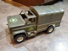 Vintage Army Transport Truck, Processed Plastic Co Montgomery IL USA  14 inches